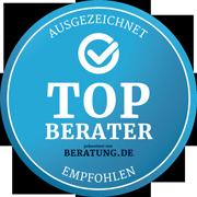 Top-Berater – ausgezeichnet und empfohlen von BERATUNG.DE